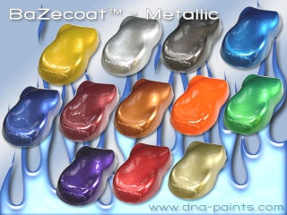 Metallic BaZecoat™ - Painted Aeroshapes