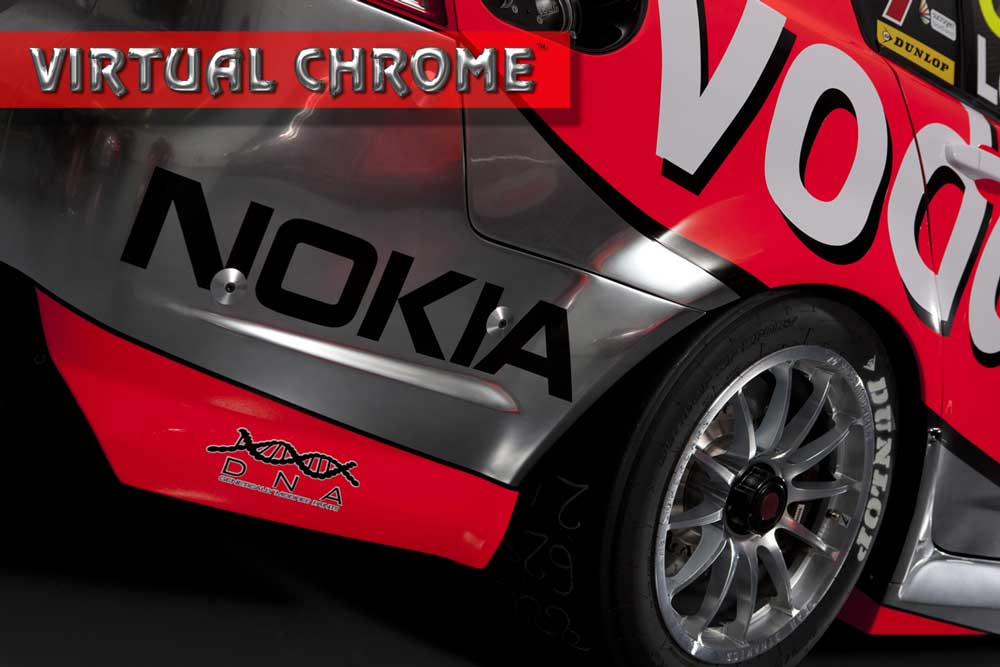 Virtual Chrome race car