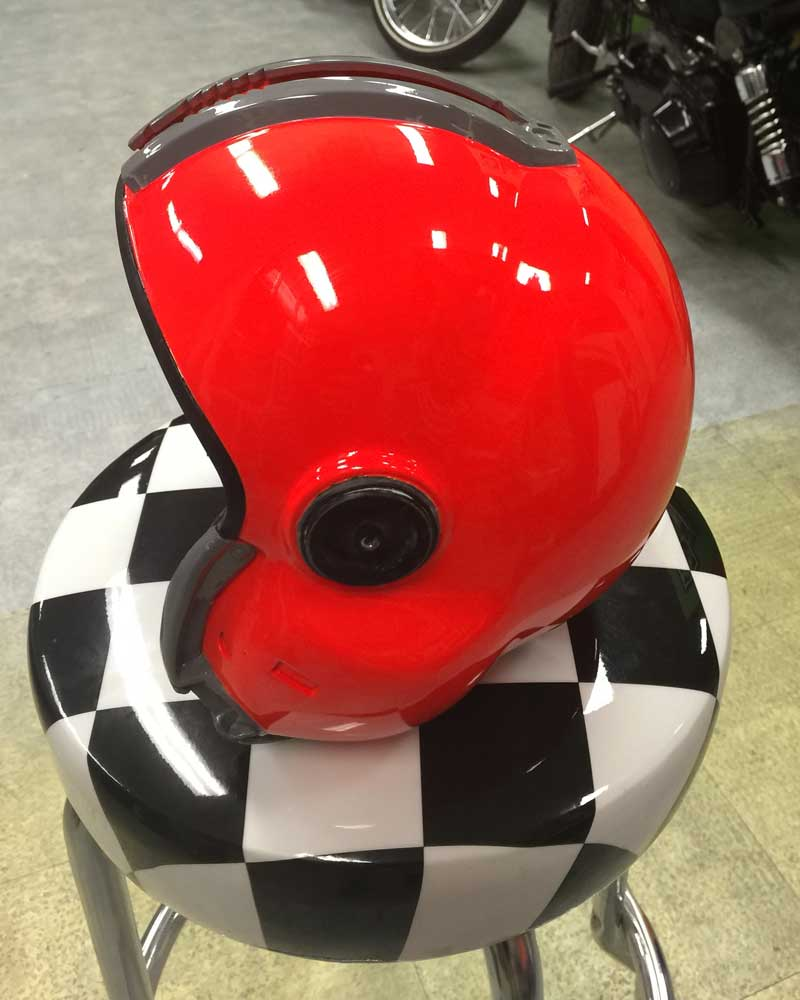 <strong>Fluorescent Basecoat - Red (F104)</strong> Race Helmet by Rod Tickle - Queensland Australia