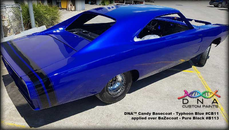 Dodge in Typhoon Blue Candy Basecoat