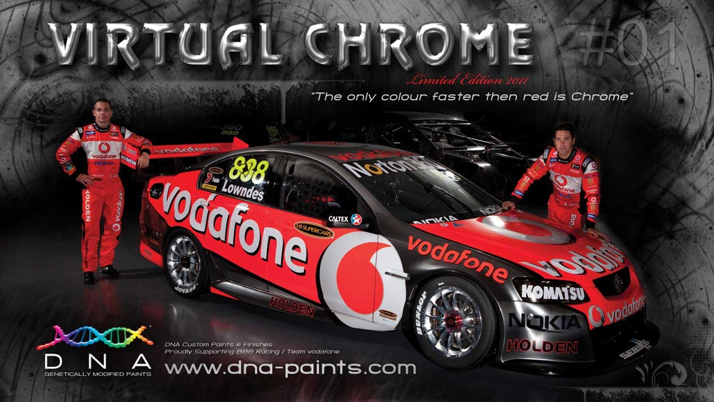 DNA™ Virtual Chrome™ - on Triple Eight Racing V8 Supercar